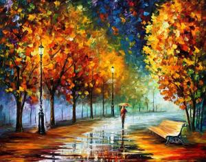 """Fall Marathon"" by Leonid Afremov"